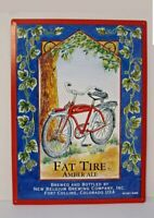 "Vintage New Belgium Brewing~Fat Tire Amber Ale~1991~Tin Tacker Sign 16"" x 11 3/4"