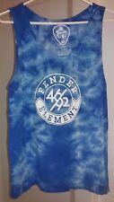 Used Men's ELEMENT / FENDER Blue/White Cotton Tank Top T-Shirt SZ L HTF 2014