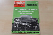 77464) Honda 1300 - Ford 17 M 1800 S TEST - Motor Rundschau 22/1968