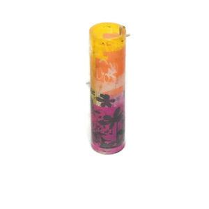 Partylite Remix Pink Orange Yellow Black Floral Tealight Holder Lamp (P9799)