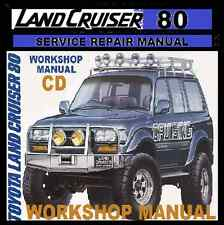 TOYOTA Land cruiser 80 Series HZJ80 HDJ80 FJ80 Workshop Service Repair Manual CD