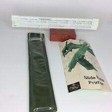 Vintage Faber Castell Rietz 157/87 Pocket Slide Rule Primer + Case & Manual
