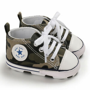 0-18 Months Infant Crib Soft Sole Shoes Baby Toddler Casual Canvas Sneakers Gift