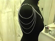 DETACHABLE WEDDING DRESS STRAPS/SLEEVES Sparkly Diamonte One Size