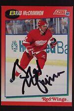 Brad McCrimmon Detroit Red Wings Autographed 1991 Score #16R Hockey Card JSA 16H
