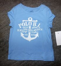 Ralph Lauren Toddler Girls Blue T-Shirt - Size 2T - NWT