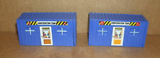 Two 1/87 Scale Construction Office Trailer Plastic Models  Work Site Accessories