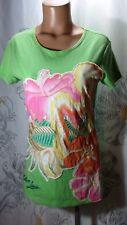 Tori Richard~T Shirt~Tee~Top~Matson Lines~100% Cotton~Green~Sea Print~Women Sz S
