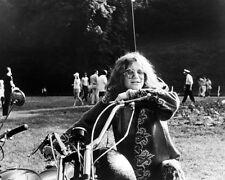 Janis Joplin 16x20 Canvas Classic Image On Motorbike Hippy Clothes Sunglasses