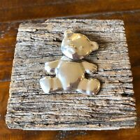 Big Sterling Silver Bear Brooch, Vintage, Articulated, Mexico 925, Charming