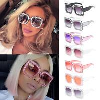 2019 Oversized Square Frame Bling Rhinestone Sunglasses Women Fashion Shades Hot