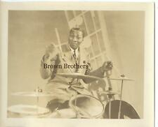 Vintage 1940s SIdney Catlett Jazz Drummer Photo - Brown Bros