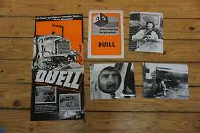 duell - steven spielberg ´71 - 3 x original german press fotos + werbematerial