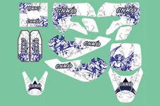 Aufkleber, Dekor Weiß Blau für Dirt Bike,Pit Bike CNKO-125,XB-80,Kayo