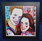 Romero Britto REAL LOVE PINK Prince William & Kate Cambridge LE, Framed COA