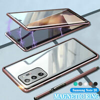 For Samsung Galaxy Note20/Note20 Ultra S20 360° Magnetic Double-Sided Glass Case