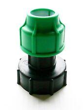 """IBC Adaptador (2 """"s60x6 Grueso Hilo) a 25 mm Recto MdPE de compresión de montaje"""