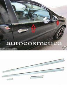 modanature strisce finestrini acciaio cromo cromato  FIAT GRANDE PUNTO 2 porte
