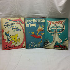 3 Dr. Seuss Books Happy Birthday to You Thidwick Big Hearted Moose I Had Trouble