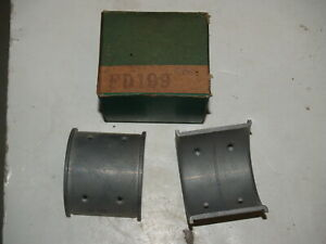 NOS 0.010 1932-1938 Ford Flathead V8 Flanged Connecting Rod Bearings - 1 set