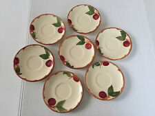 Lot of 7 Franciscan China APPLE TEA CUP SAUCERS, Chipped so Perfect for CRAFTS