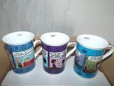 Danbury Peanuts Snoopy calendar 3 months Set1 cups mugs coffee tea hot chocolate