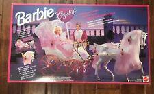 Vintage 1992 Barbie CRYSTAL HORSE & CARRIAGE  New Sealed NRFB MINT #10142 Mattel