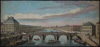 Pont Royal in Paris - Jacques Rigaud - Original engraving 1750