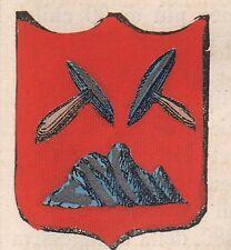 1865 Stemma di Rio nell'Elba (araldica civica), Livorno   cromolitografia