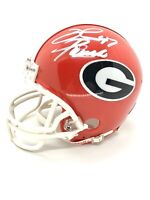 David Pollack Georgia Bulldogs Signed Mini Helmet Chicago Graphs COA