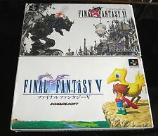 Boxed Final Fantasy 4 & 5 Super Famicom SFC SNES NES JAPAN Import Box