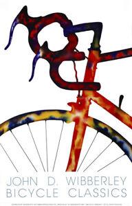 "John D Wibberley Cycle Art - Original ""Handle Bars"" Print 22"" x 30"""