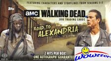 2018 Topps The Walking Dead Road to Alexandria Factory Sealed HOBBY Box-2 HITS!