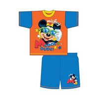 DISNEY MICKEY MOUSE Shorty Court Set Pyjama Pyjamas 1 2 3 4 Ans Garçon Fille