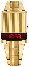 Bulova 97C110  Archive Series Digital LED Computron Gold-Tone Watch