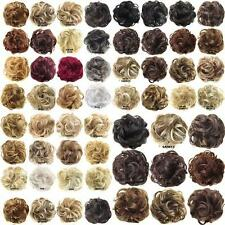 Pony Tail Women Clip in/on Hair Bun Hairpiece Extension Scrunchie 44 Types<