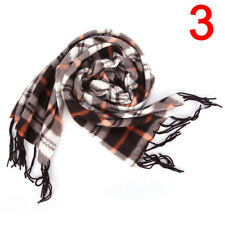 Wool Blend Women&men Geometric Plaid Wrap Winter Warm Fleece Scarf Shawl 3c 6