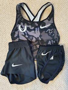 Nike Pro Elite '15 Oregon Project Running Crop Top, Brief, Shorts Women's XS New