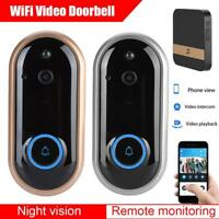Wireless Doorbell Camera WiFi Video Door Phone Intercom IR Security Dingdong 2MP