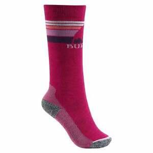 Burton Emblem Midweight Youth Snowboard Socks - Sea Pink