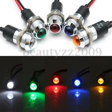 Metal 14mm LED Panel Pilot Dash Light Indicator Warning Lamp Car Van Truck Boat