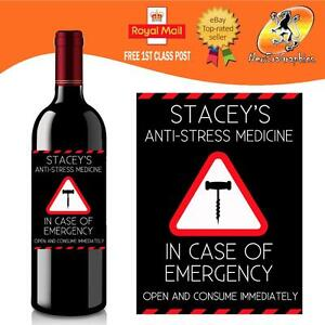 PERSONALISED FUNNY WINE BOTTLE LABEL BIRTHDAY ALL OCCASIONS GIFT