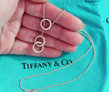 Tiffany & Co 1837 Sterling Silver Interlocking Circles Lariat Necklace