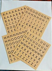 224 Stickers, Cream Coloured Alphabet Letters with Scrabble Theme New.