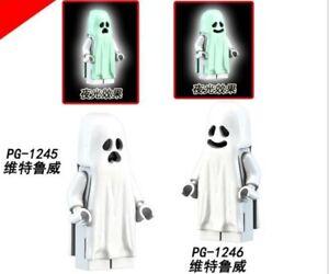 Passt LEGO Vitruvius Minifiguren Halloween-Geist Bausteine Nachts leuchten