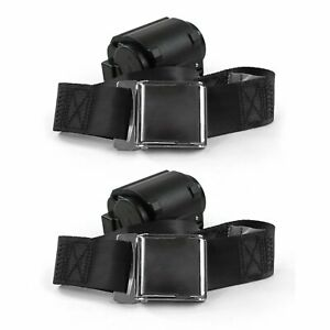 AMC 1958 - 1988  Airplane 2pt Black Retractable Bucket Seat Belt Kit - 2 Belts