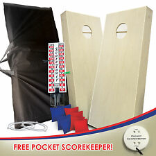CORNHOLE BOARDS GAME SET 8 ACA Bags SCOREBOARD CARRY CASE NIGHT LIGHTS
