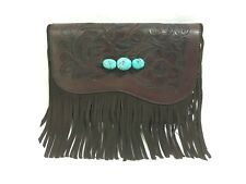 Paige Wallace Brown Leather Satchel w/Fringe