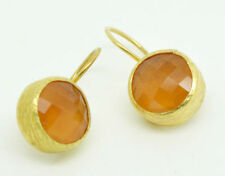 Chalcedony Yellow Gold Plated Costume Earrings