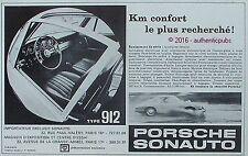 PUBLICITE AUTOMOBILE PORSCHE TYPE 912 SONAUTO KM CONFORT DE 1971 FRENCH AD PUB